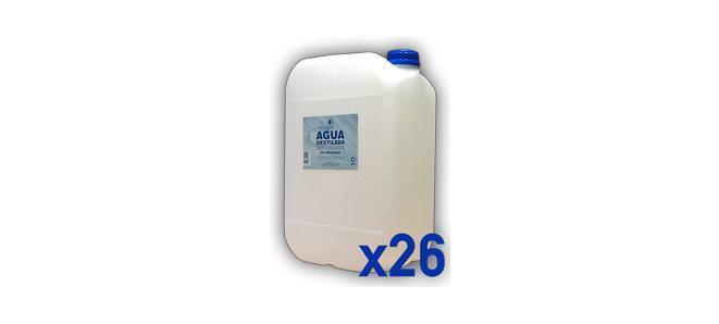 Pack 26 bidones 25 l agua destilada adesco for Bidones para agua