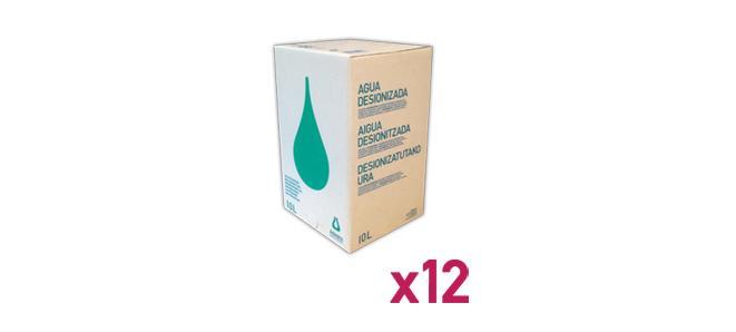 Agua_Destilada_Palet_12_Envase_Cartón_BagInBox_10L