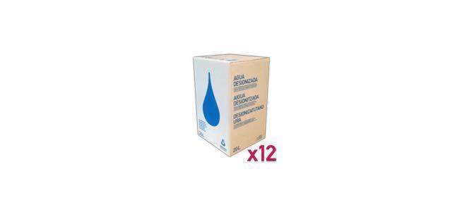 Agua_Destilada_Palet_12_Envase_Cartón_BagInBox_20L