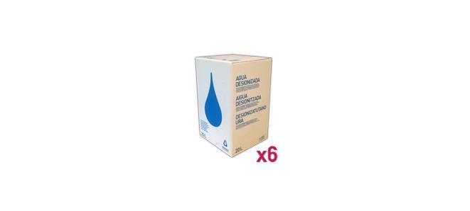 Agua_Destilada_Palet_6_Envase_Cartón_BagInBox_20L