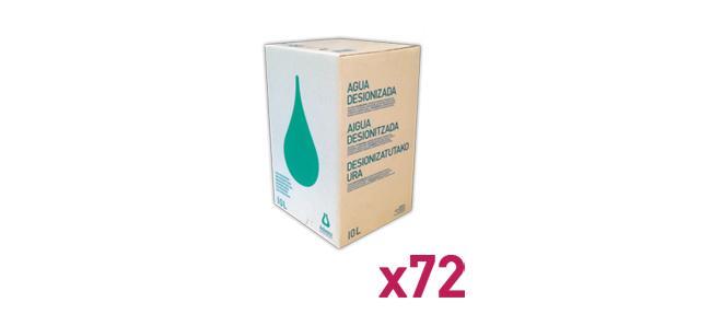 Agua_Destilada_Palet_72_Envase_Cartón_BagInBox_10L