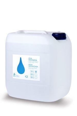 Eau Désionisée (Distillée) dans un Fût de 16 litres