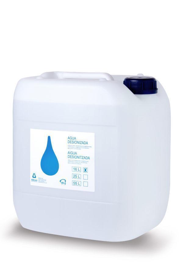Agua desionizada en bidón de 16L