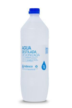 Agua Desionizada (Destilada) en Botella de 1 Litro