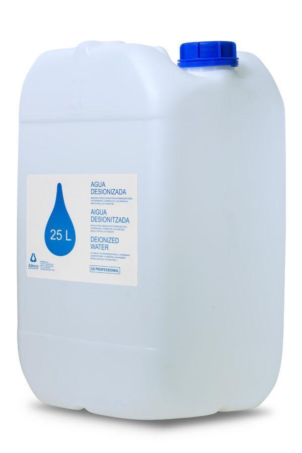 Agua Desionizada (Destilada) en Bidón de 25 litros