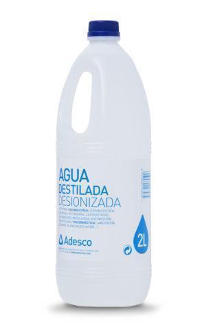 Agua Desionizada (Destilada) en Botella 2L