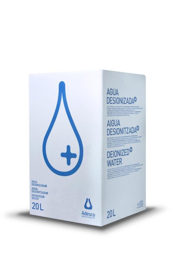 Agua Desionizada Plus en Bag in box de 20 Litros