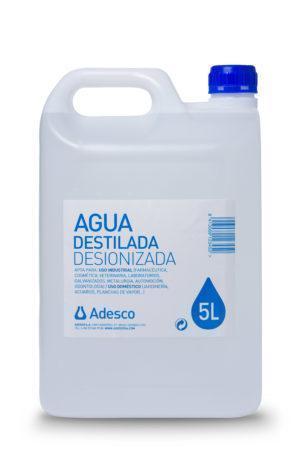 Agua Desionizada (Destilada) en Bidón de 5 litros