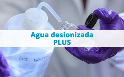 Agua desionizada PLUS: usos y características