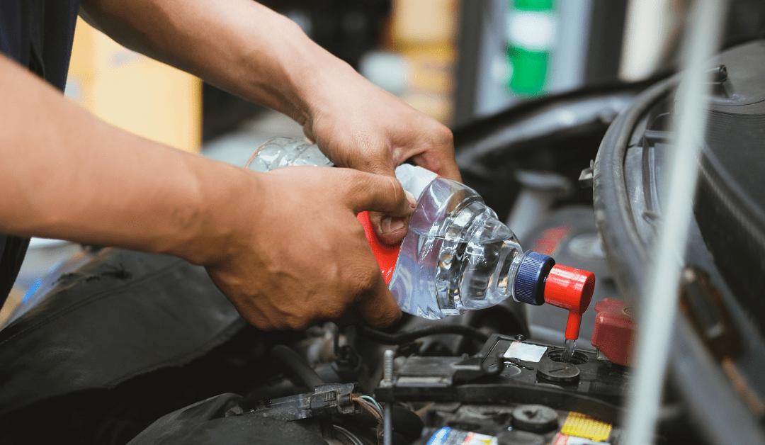El agua destilada en la automoción